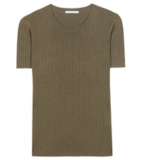 Alexa Chung For Ag Ireland Knitted Wool Blend Top Green