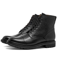 Grenson Joseph Toe Cap Boot Black