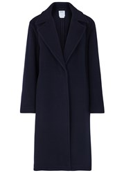 Dkny Navy Oversized Wool Blend Coat