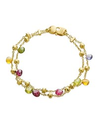 Marco Bicego Paradise Collection Two Strand Gold Bracelet Multi Gold