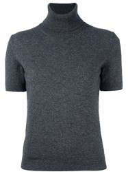 Piazza Sempione Shortsleeved Turtleneck Sweater Grey