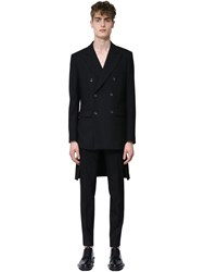 Undercover Double Breasted Wool And Mohair Jacket Black
