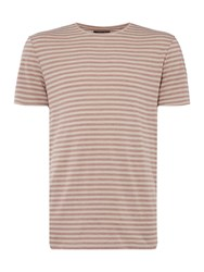 Label Lab Garfield Burn Out Stripe Tee Pink