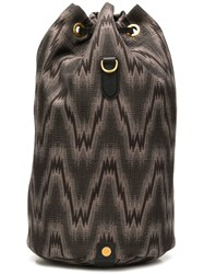 Mismo Patterned Backpack Brown