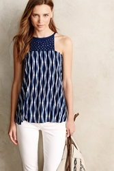 Plenty By Tracy Reese Nerina Embellished Tank Blue Motif