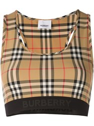 Burberry Vintage Check Bra Top Brown
