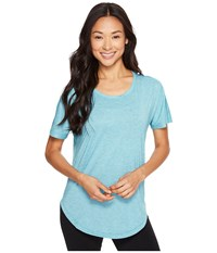 Lucy Final Rep S S Verdial Heather Women's Short Sleeve Pullover Blue