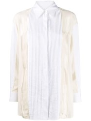 Golden Goose Susan Pleated Button Up Shirt White