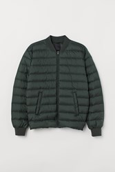 Handm H M Lightweight Down Jacket Green