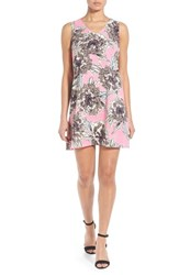 Women's Nic Zoe 'Petal Pink' Print V Neck Shift Dress