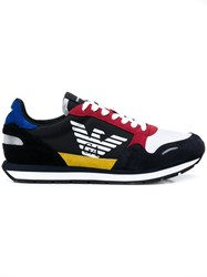Emporio Armani Colour Block Sneakers Black