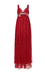 Antonio Marras Empire Waist Dress Red