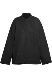 Christophe Lemaire Oversized Denim Jacket Black