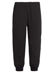 Lndr Sunday Wool Blend Cropped Track Pants Dark Grey