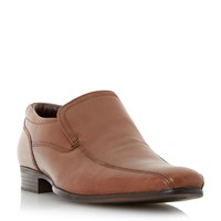 Howick Recipe Leather Tramline Slip On Loafers Tan