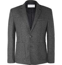 Private White V.C. Storm Wool Blazer Gray