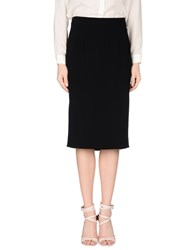 Gai Mattiolo Skirts Knee Length Skirts Women Black