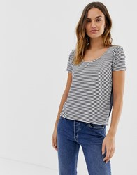 Naf Naf Stripe Jersey Top With Transparent Back Detail Multi