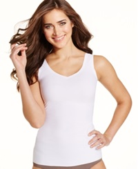 Maidenform Light Control Sleek Smoothers Two Way Tank White