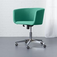 Cb2 Coup Teal Office Chair