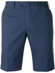 Loro Piana Embroidered Bermuda Shorts Blue