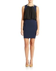 Romeo And Juliet Couture Contrast Bodice Dress Navy Black