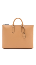 Ben Minkoff Waxy Leather Devin Tote Tan