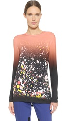 Prabal Gurung Printed Long Sleeve Tee Blush