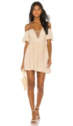 House Of Harlow 1960 X Revolve Frans Dress In Cream. Natural