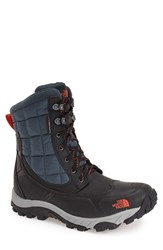 The North Face Men's Waterproof Thermoball Insulated Boot Phantom Grey Valencia Orange