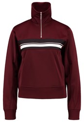 Wood Wood Justine Sweatshirt Port Royale Bordeaux