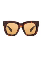Acne Studios Library Sunglasses In Brown Animal Print