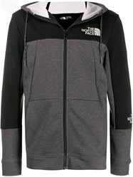 The North Face Colour Block Hoodie Grey