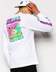 The Hundreds Long Sleeve T Shirt With Dog Back Print White