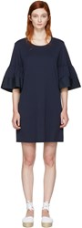 See By Chloe Navy Flared Sleeve Dress