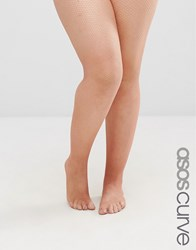 Asos Curve Nude Fishnet Tights Nude Beige