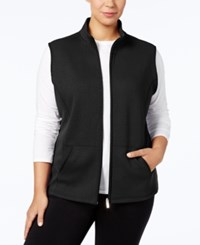 Karen Scott Plus Size Quilted Vest Created For Macy's Deep Black