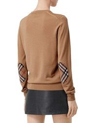 Burberry Merino Wool Knit Sweater Camel