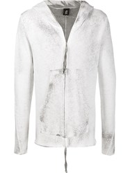 Thom Krom Zipped Distressed Hoodie 60
