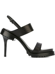 A.F.Vandevorst Strappy Heeled Sandals Black