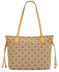 Giani Bernini Annabelle Chain Signature Tulip Tote Only At Macy's Khaki Brown