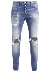 Replay Pilar Relaxed Fit Jeans Destroyed Denim