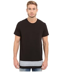 G Star Stonum Short Sleeve Crew Neck Long Tee In Compact Jersey Black Men's T Shirt