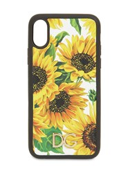 Dolce And Gabbana Girasoli Printed Leather Iphone X Cover