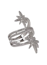 Apm Monaco Double Star Sterling Silver Ring