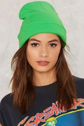 Bright Ideas Knitted Beanie Green