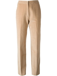 Celine Vintage Corduroy Trousers Nude And Neutrals