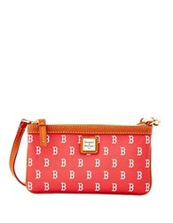 Dooney And Bourke Boston Red Sox Coated Cotton Large Slim Wristlet