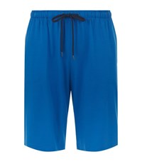 Derek Rose Basel Lounge Shorts Male Blue