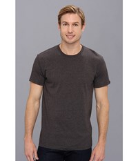 Prana Crew Tee Charcoal Men's Short Sleeve Pullover Gray